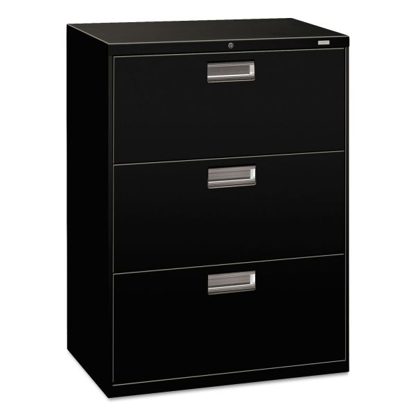 HON Brigade 600 Series 3-Drawer Lateral File Cabinet