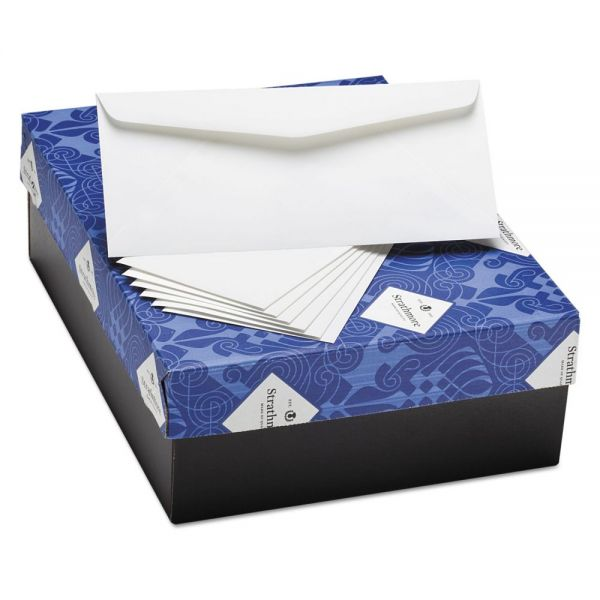 Strathmore 25% Cotton Business Envelopes, Natural White, 24 lbs, 4 1/8 x 9 1/2, 500/Box
