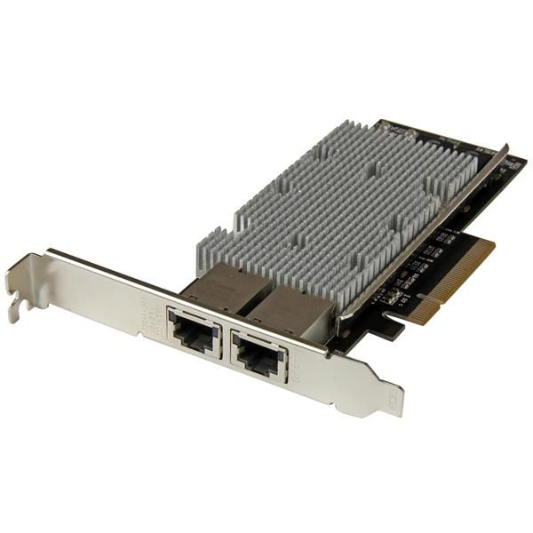 StarTech.com 2-Port PCI Express 10GBase-T Ethernet Network Card - 10GbE Network Interface Card with Intel X540 Chip