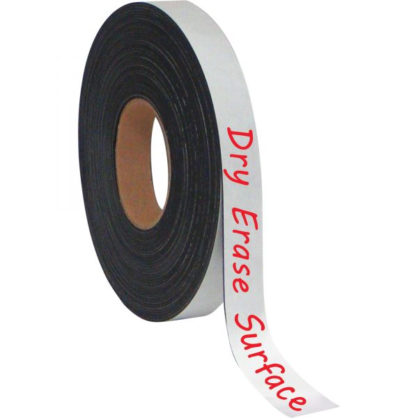 """MasterVision Magnetic Adhesive Tape Roll, Black, 1"""" x 4 Ft."""