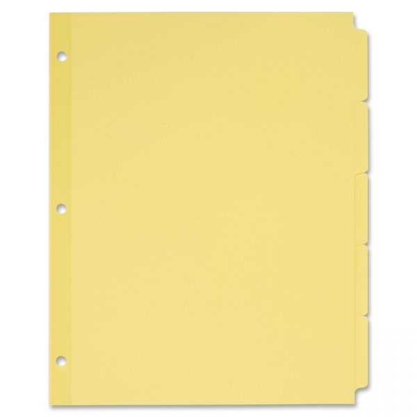 Avery Write-On Nonlaminated Buff Tab Dividers
