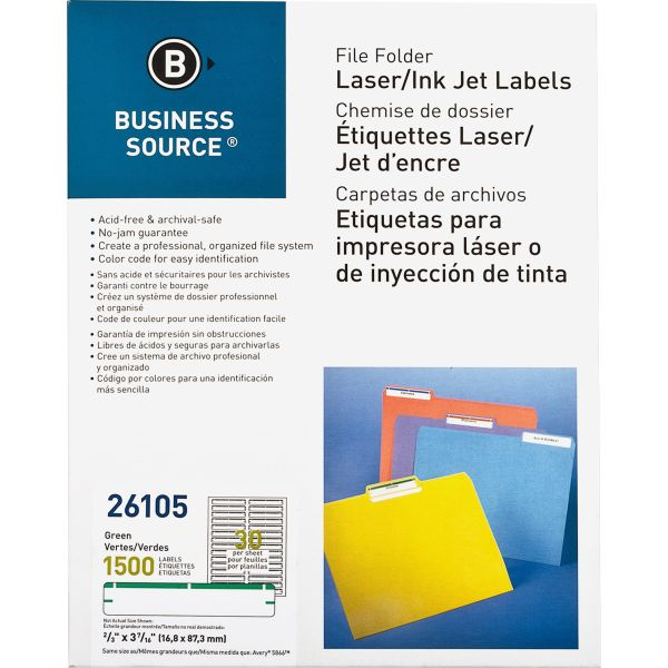 Business Source Permanent File Folder Labels