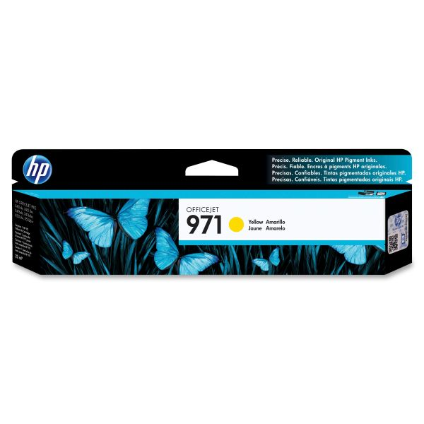 HP 971 Yellow Ink Cartridge (CN624AM)