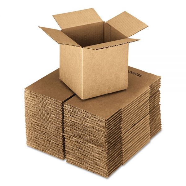 General Supply Brown Corrugated - Cubed Fixed-Depth Shipping Boxes, 16l x 16w x 16h, 25/Bundle