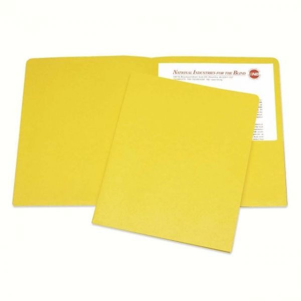 Skilcraft Yellow Two Pocket Folders