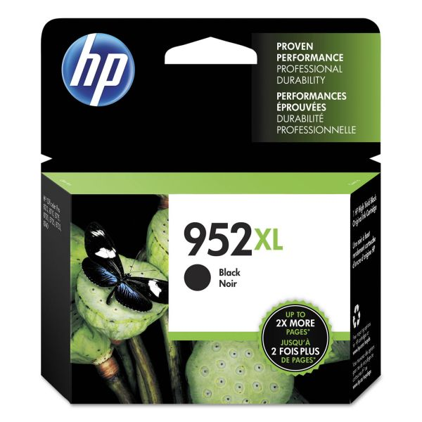 HP 952XL High Yield Black Ink Cartridge (F6U19AN)