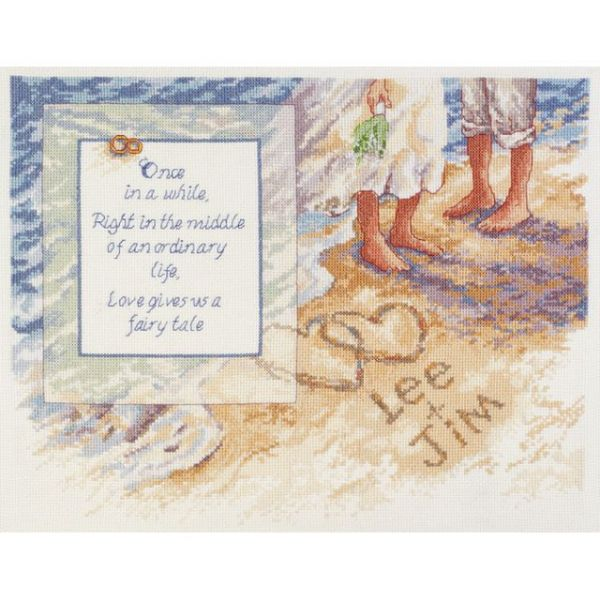 Beach Romance Counted Cross Stitch Kit