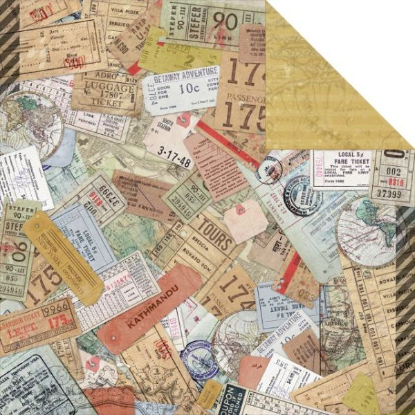 """Now Boarding Double-Sided Cardstock 12""""X12"""""""