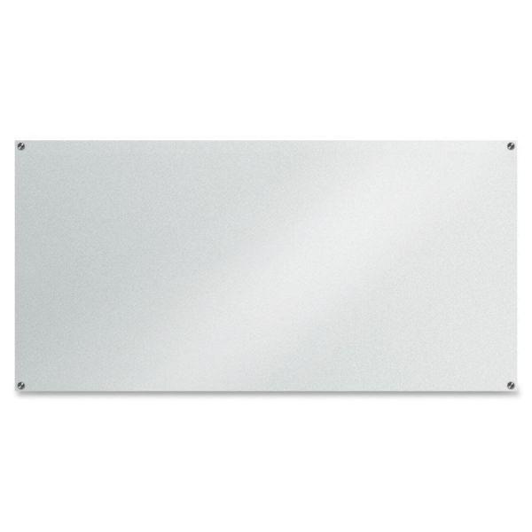 "Lorell 72"" x 36"" Glass Dry Erase Whiteboard"