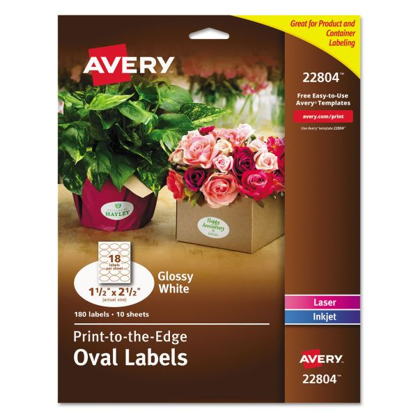Avery Print To The Edge Oval Labels