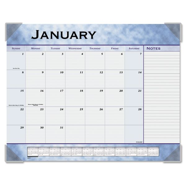 Visual Organizer Marbleized Monthly Desk Pad Calendar