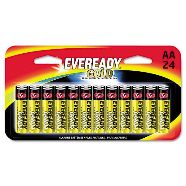 Eveready Gold Alkaline Batteries, AA, 24 /Pk