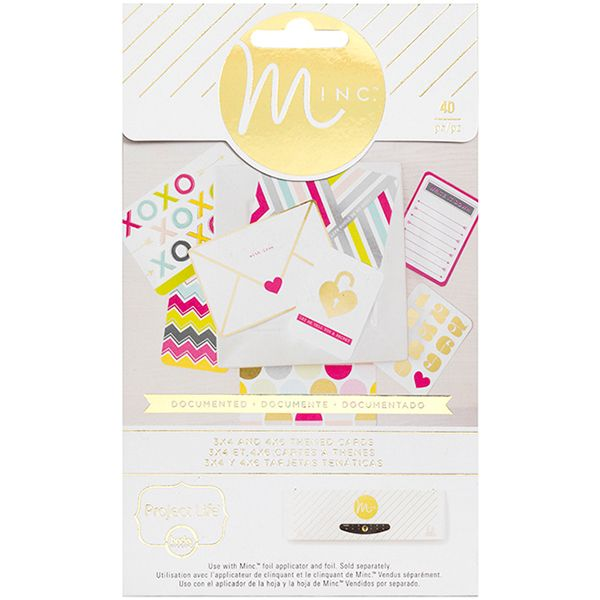 Minc Project Life Themed Cards 40/Pkg