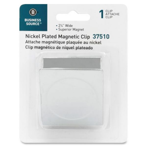 Business Source Nickel Plated Magnetic Clips