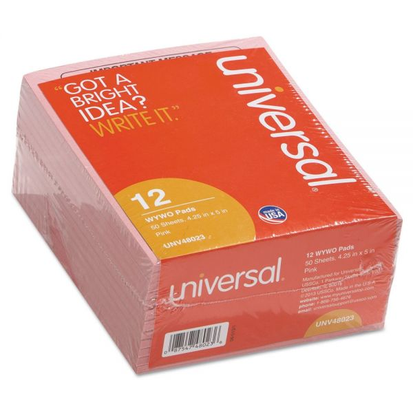 Universal Message Form, 4-1/4 x 5-1/2, 12 50-Sheet Pad/Pack