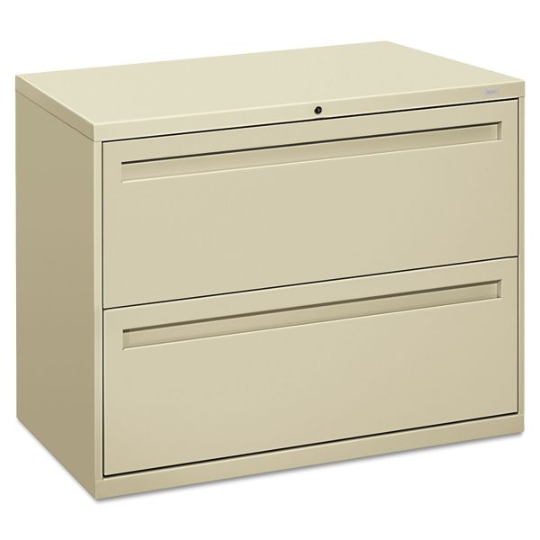 HON 700 Series Two-Drawer Lateral File, Letter/Legal/A4, 36w x 19-1/4d, Putty