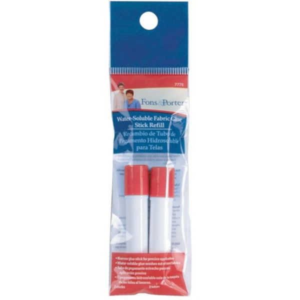 Fons & Porter Water-Soluble Fabric Glue Stick Refill 2/Pkg