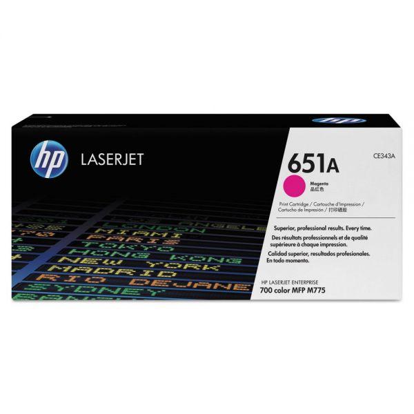 HP HP 651A, (CE343AG) Magenta Original LaserJet Toner Cartridge for US Government