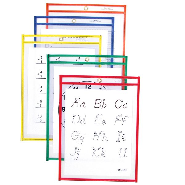 C-Line Reusable Dry Erase Pockets