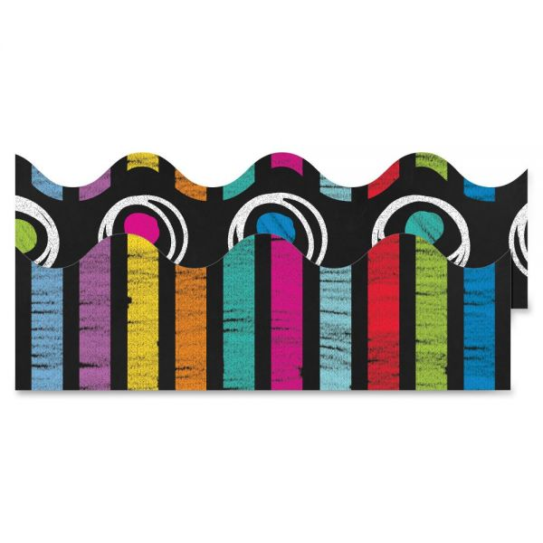 Carson-Dellosa Colorful Chalkboard Double-Sided Scalloped Borders