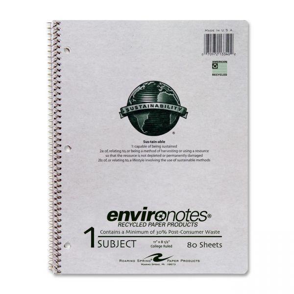 Roaring Spring Wirebound Kraft Cover Notebook - Letter