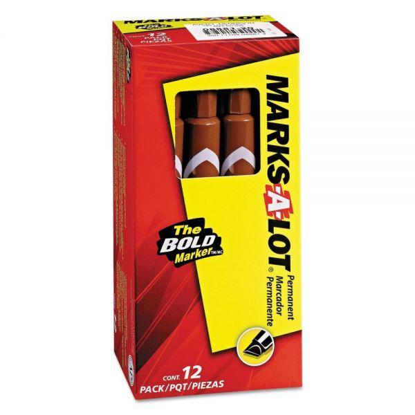 Marks-A-Lot Brown Permanent Markers