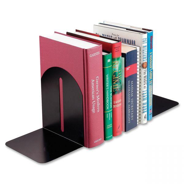 SteelMaster Fashion Bookends, 5 9/10 x 5 x 7, Black, Pair