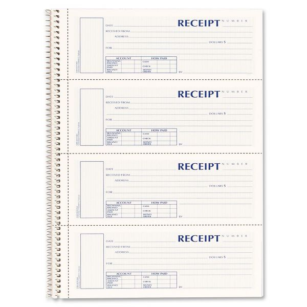 Rediform Money 3-Part Receipt Book