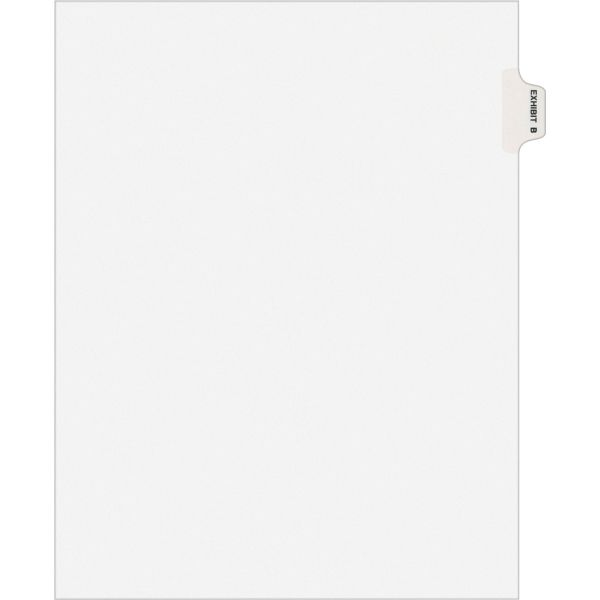 Avery-Style Preprinted Legal Side Tab Divider, Exhibit B, Letter, White, 25/Pack