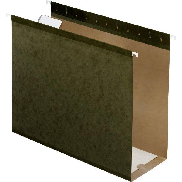 "Pendaflex Reinforced 4"" Extra Capacity Hanging Folders, Letter, Standard Green, 25/Box"