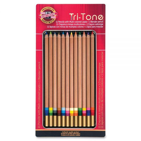 Koh-I-Noor Tri-Tone Multi-Colored Pencils