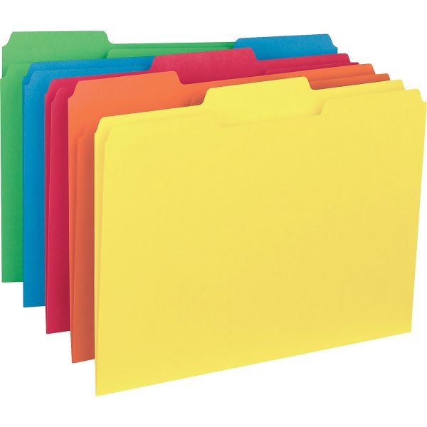 Business Source Colored Interior File Folders