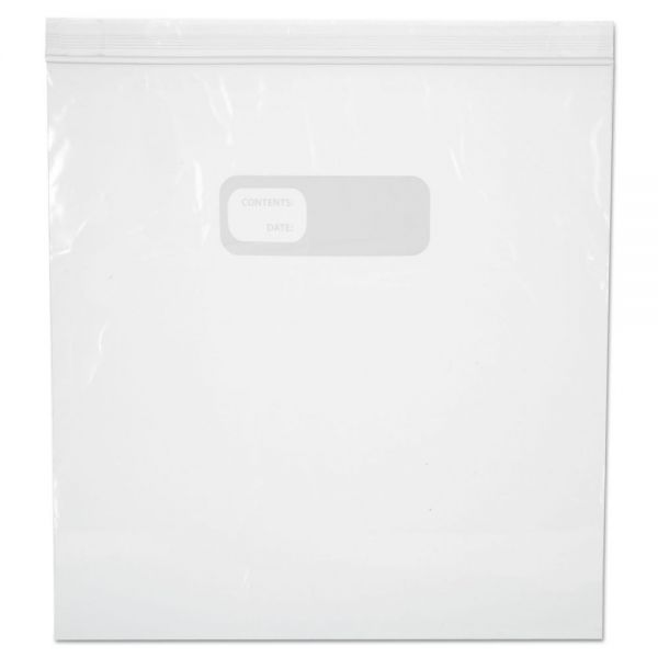 Boardwalk Reclosable Food Storage Bags, 1 Gal, 1.75 mil, Clear, LDPE, 10.56 x 11, 250/Box