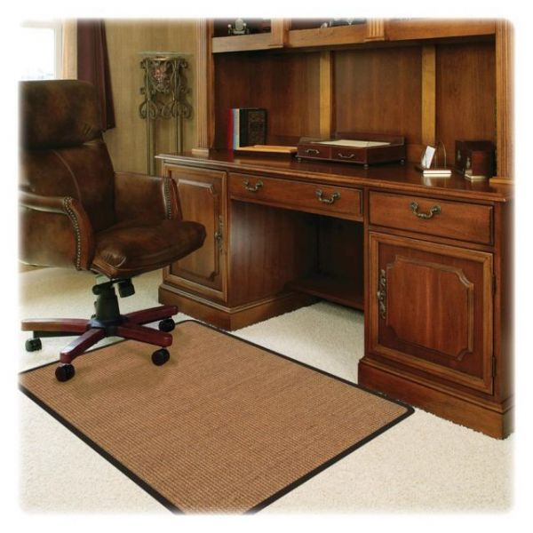 Deflect-o RollaMat Light Brown Sisal Chair Mat