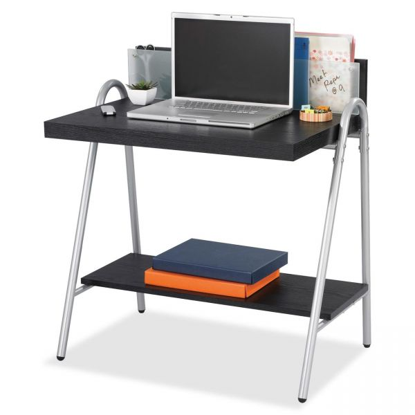 Safco Xpressions Computer Workstation, 32w x 21d x 34 1/4h, Ebony/Silver