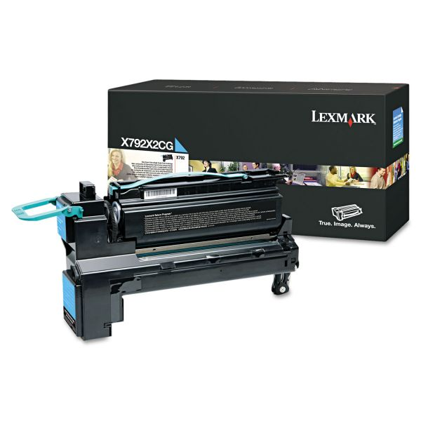 Lexmark X792X2CG Cyan Extra High Yield Toner Cartridge