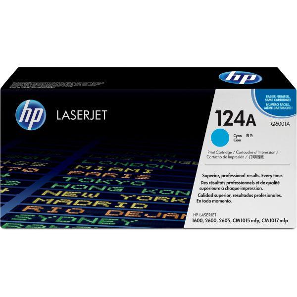 HP 124A Cyan Toner Cartridge (Q6001A)