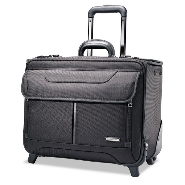 Samsonite Rolling Catalog Case, 17 1/4 x 7 1/2 x 13, Black