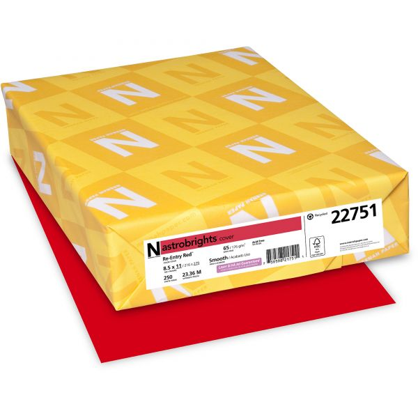 Neenah Paper Astrobrights Re-Entry Red Colored Card Stock