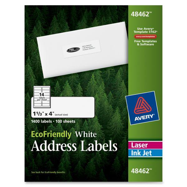 Avery 48462 EcoFriendly Address Labels