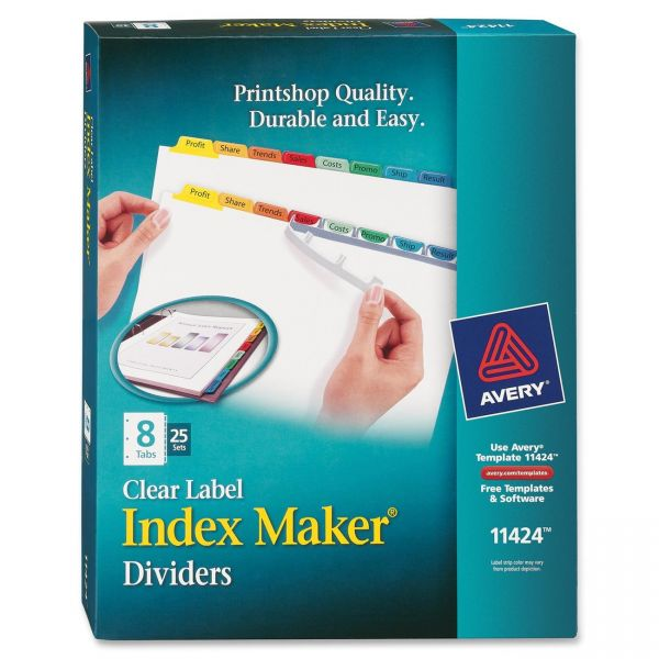 Avery Clear Label 8-Tab Index Maker Dividers