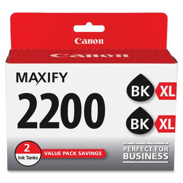 Canon PGI-2200XL High Yield Black Ink Cartridge Value Pack