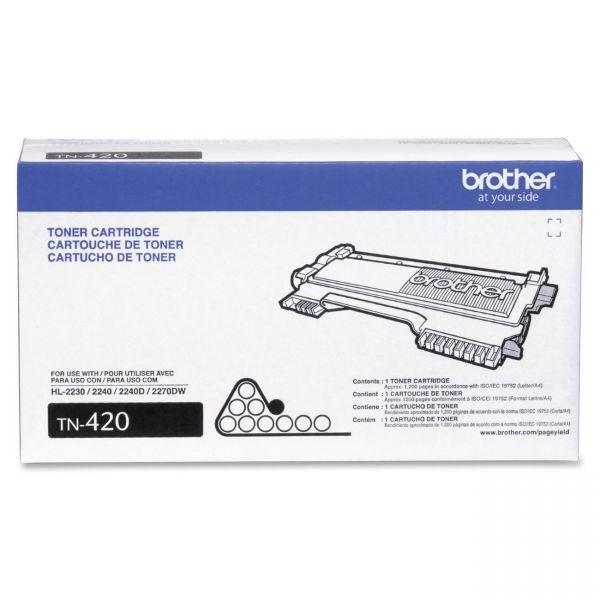 Brother Genuine TN420 Mono Laser Toner Cartridge