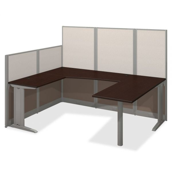 Bush Business Furniture Mocha Cherry U-Workstation