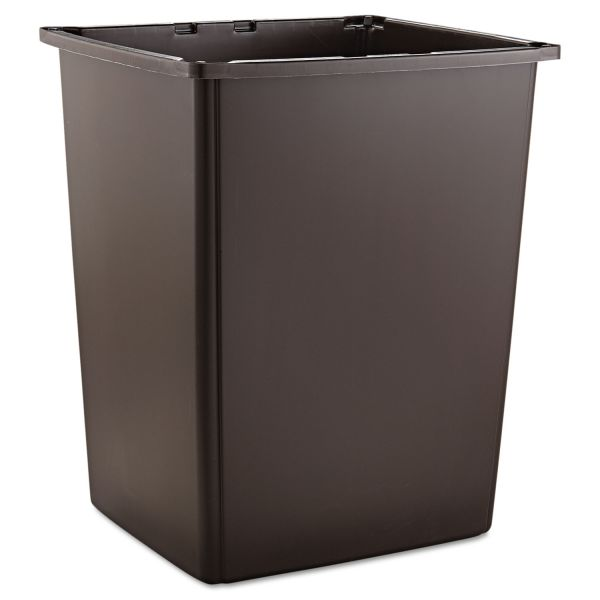 Rubbermaid Commercial Glutton Container, Rectangular, 56gal, Brown