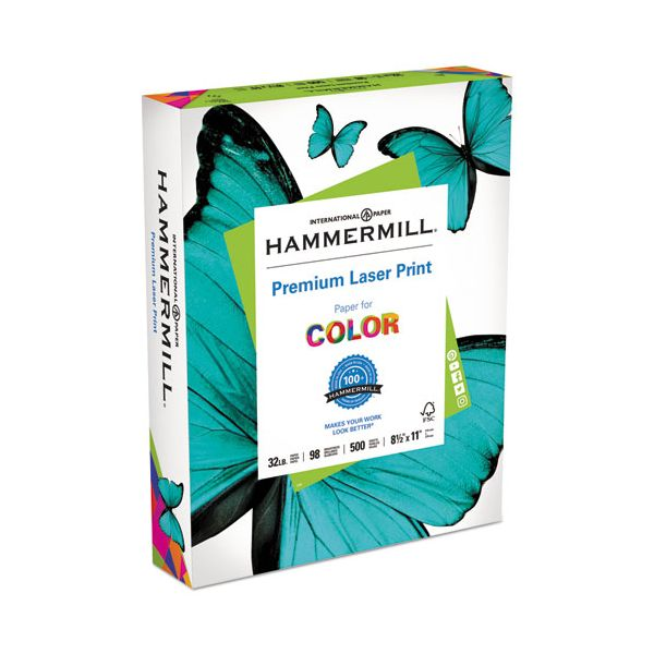 Hammermill Laser Print Office Paper, 98 Brightness, 32 lb, 8 1/2 x 11, White, 500 Sheets/Ream