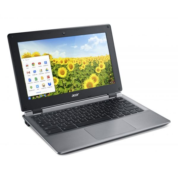 "Acer C730E-C555 11.6"" LED (ComfyView) Chromebook - Intel Celeron N2840 Dual-core (2 Core) 2.16 GHz - Iron"