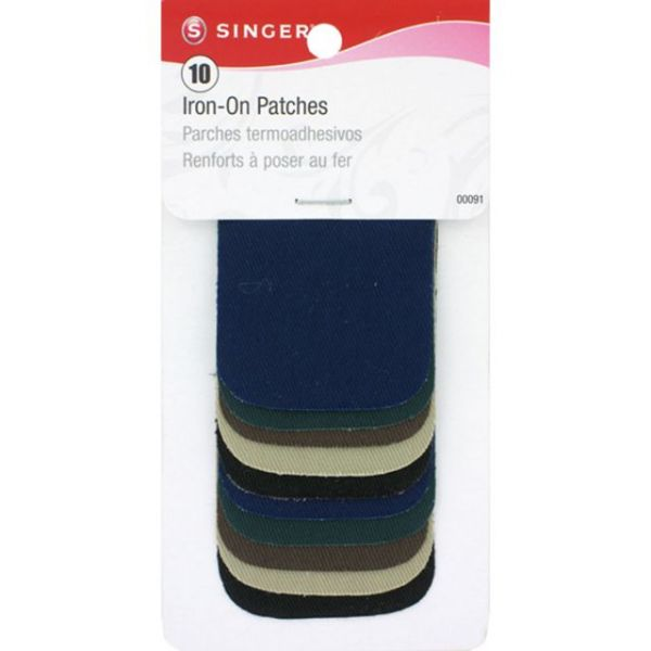 "Iron-On Patches 2""X3"" 10/Pkg"