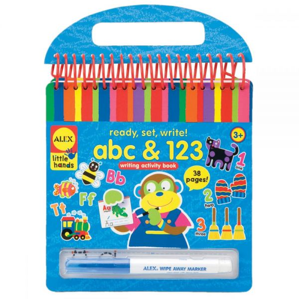 ALEX Toys Little Hands Ready, Set, Write! abc & 123 Writing Activity Book