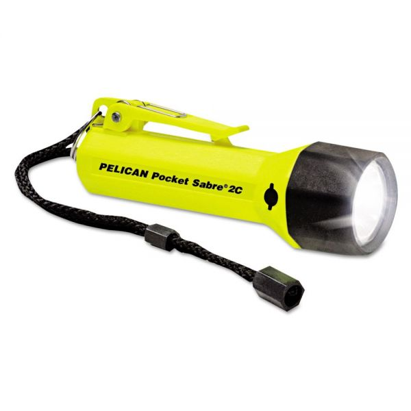 Pelican Pocket SabreLite Flashlight, 2C, Yellow
